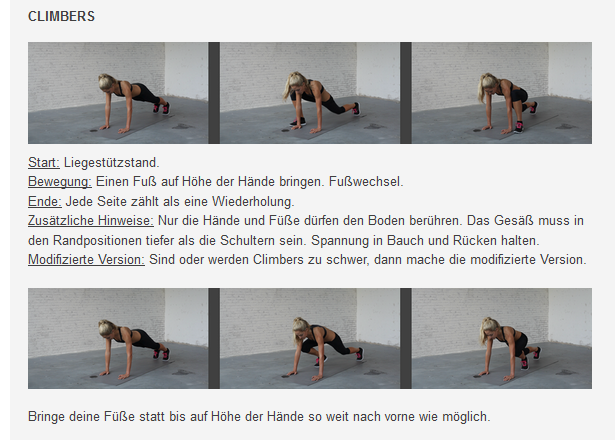 freeletics Übungen