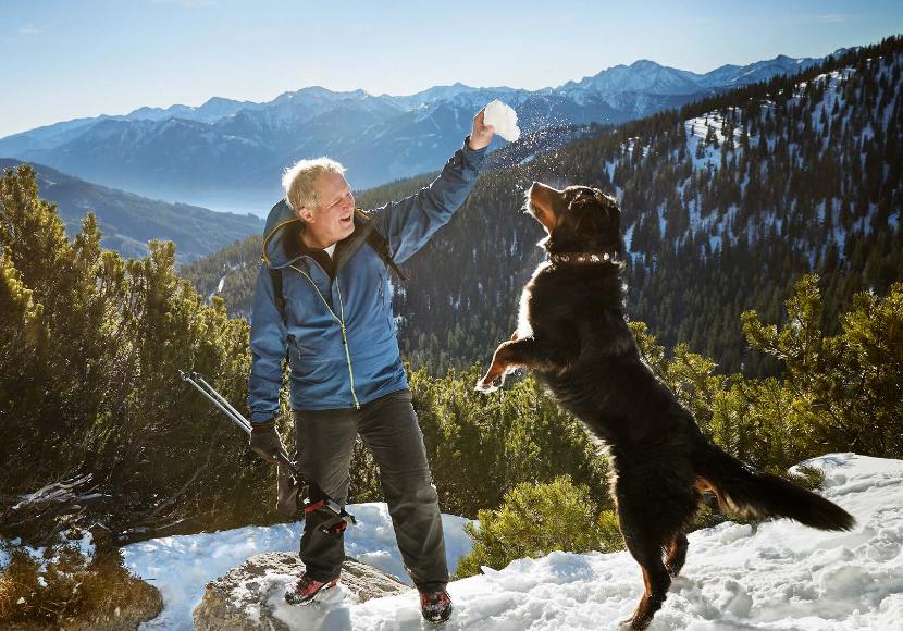Harald Krassnitzer mit Hund