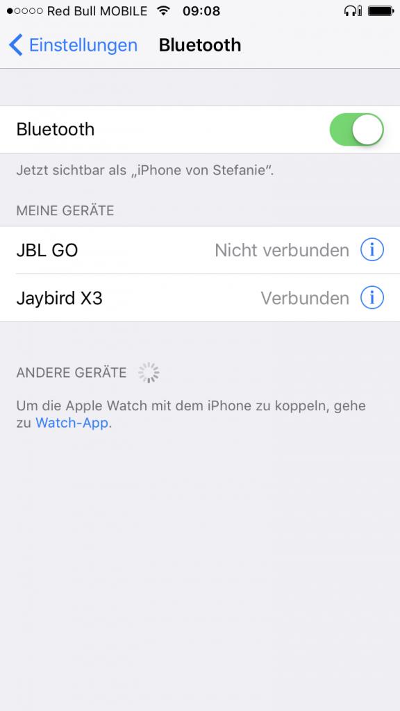 Jaybird X3 Verbindung herstellen